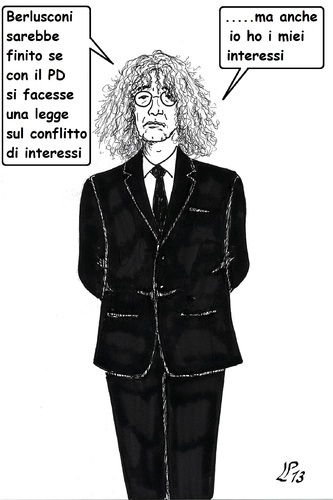 Cartoon: Interessi (medium) by paolo lombardi tagged italy,politics,satire,cartoon,election,berlusconi,grillo
