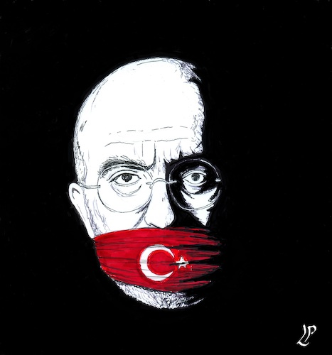 Cartoon: Night in Turkey (medium) by paolo lombardi tagged turkey,sentences,journalists,to,life,in,jail,over,coup,attempt