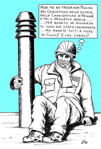 Cartoon: Stato Reale (medium) by paolo lombardi tagged arbeit,italy