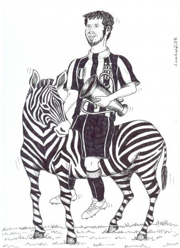 Cartoon: tifoso (medium) by paolo lombardi tagged calcio,sport,italy,caricatures,satire