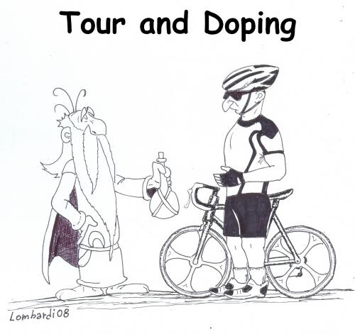 Cartoon: tour de france and doping 3 (medium) by paolo lombardi tagged satire,caricature,sport,byke,tourdefrance,france,germany