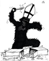 Cartoon: 2012 Vatican modern (small) by paolo lombardi tagged vatican,church,politics