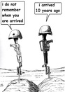 Cartoon: Afghan time (small) by paolo lombardi tagged afghanistan,war,peace