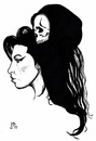 Cartoon: Amy and Death (small) by paolo lombardi tagged amy,winehouse