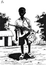 Cartoon: Child Soldier (small) by paolo lombardi tagged war,peace,africa