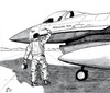 Cartoon: Flying to Libia (small) by paolo lombardi tagged libia,gaddafi,war,krieg