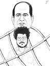 Cartoon: Freedom for Patrick Zaki (small) by paolo lombardi tagged egypt,dictator,freedom,democracy