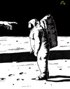Cartoon: Goodbye Armstrong (small) by paolo lombardi tagged moon,usa,neil,armstrong