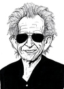 Cartoon: Keith Richards (small) by paolo lombardi tagged rolling,stones,cartoon,caricature