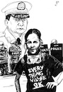 Cartoon: Myanmar (small) by paolo lombardi tagged myanmar,protest,riot,repression