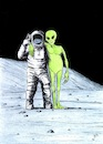 Cartoon: On the Moon (small) by paolo lombardi tagged moon