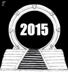 Cartoon: Stargate a jump in 2015 (small) by paolo lombardi tagged new,year,2015
