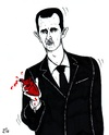 Cartoon: the heart of Syria (small) by paolo lombardi tagged syria,assad,revolution