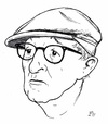 Cartoon: Woody Allen (small) by paolo lombardi tagged actor,cinemas