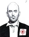 Cartoon: Writer Roberto Saviano (small) by paolo lombardi tagged italy