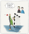Cartoon: Handballtraining (small) by AndreJ tagged handball,training,torwart,ballett,beweglichkeit
