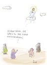 Cartoon: Upload (small) by fussel tagged himmelfahrt,cloud,upload,hochladen,jesus,jünger,christi