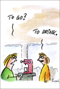 Cartoon: To go (small) by fussel tagged go,to,coffee,kaffee,order,bestellen