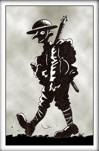 Cartoon: LA GRAN GUERRA (medium) by PEPE GONZALEZ tagged soldado,soldier,wwi,guerra,british,britanico,ingles,england,uniforme