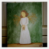 Cartoon: Angel of Light (small) by Krinisty tagged angel,color,star,paintings,watercolor,wings,light,hope,love,angels,krinisty,art,canvas