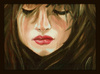 Cartoon: Feelings (small) by Krinisty tagged unhappy,girl,sad,hair,eyes,lips,makeup,beautiful,art,oilpainting,krinisty