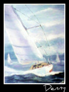 Cartoon: Rough Sailing (small) by Krinisty tagged water,boats,sailing,rough,sea,ocean,sky,windy,clouds,art,watercolor,krinisty