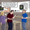 Cartoon: Apple Watch (small) by Fenya tagged apple,smartwatch,applewatch,applestore,uhr,armbanduhr,rtl,armut,technik