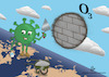 Cartoon: ozone layer (small) by abdullah tagged corona,virus,covid19,ozonelayer,o3,health
