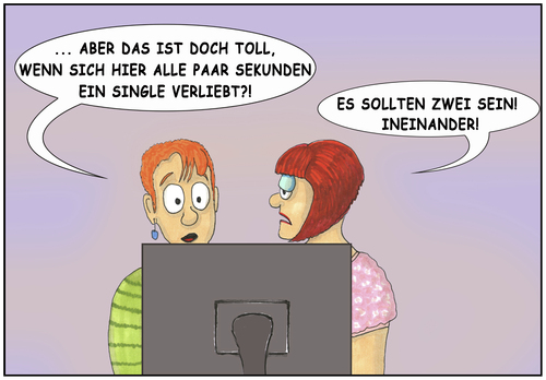 Cartoon: Singlebörse (medium) by SoRei tagged kennenlernen,treffen,formulierung,skepsis,werbung,flirt,partnersuche,solo,versprechen,erfolgsquote,erfolgsstory,liebe,match,matching,onlinedating,dating,onlineprofil,daten,singles,single,datingportal,partnerbörse,online,pitchen,profil