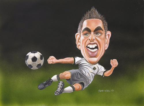 Cartoon: Philipp Lahm (medium) by Bert Kohl tagged lahm