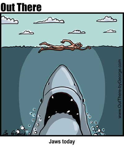 Cartoon: jaws today (medium) by George tagged jaws,today