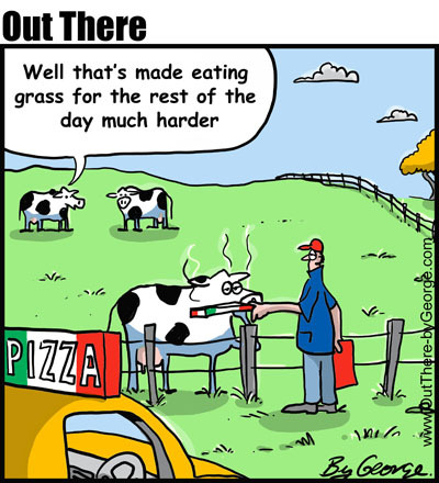 Cartoon: pizza feed (medium) by George tagged pizza,feed