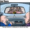 Cartoon: rear mirror (small) by George tagged rear,mirror
