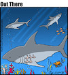 Cartoon: sharks (small) by George tagged sharks