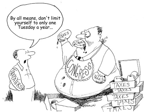 Cartoon: Fat Tuesday (medium) by Joebrowntoons tagged paczki,congress,deficit,taxes,taxpayer