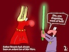 Cartoon: Father Struntz in the hell (small) by PeterD tagged hell,father,star,wars,sword