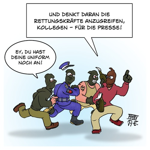 Cartoon: Agent Provocateur (medium) by Timo Essner tagged steine,gewalt,eskalation,cocktail,molotow,steinewerfer,gewaltexzesse,demonstrationsrecht,polizeigewalt,sicherheit,innere,polizei,demonstrationen,provocateur,agent,agent,provocateur,demonstrationen,polizei,innere,sicherheit,polizeigewalt,demonstrationsrecht,gewaltexzesse,steinewerfer,molotow,cocktail,eskalation,gewalt,steine