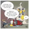 Cartoon: Brandanschlag auf Feuerwehr (small) by Timo Essner tagged corona covid19 coronaparty anschlag rki robert koch institut brandanschlag feuerwehr großbrand rettungskräfte feuer pandemie cartoon timo essner
