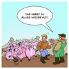 Cartoon: Dominoschweine (small) by Timo Essner tagged domino dominosteine schweine dominoschweine cartoon timo essner