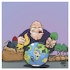 Cartoon: Oh the humanity (small) by Timo Essner tagged humanity,humankind,humans,planet,earth,nature,climate,interventions,mensch,erde,umwelt,klima,einmischung,system,natur,cartoon,timo,essner