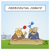 Cartoon: Presidential Debate (small) by Timo Essner tagged donald trump joe biden presidential debate president us elections muppet show shitshow kindergarten kindergarden tv discussion right wing white supremacy mute button cartoon timo essner