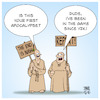 Cartoon: The end is nigh (small) by Timo Essner tagged corona,covid,covid19,conspiracy,theories,epidemics,pandemics,sars,swine,flu,bse,y2k,cartoon,timo,essner