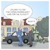 Cartoon: Uploadfilter Dieselfahrzeuge (small) by Timo Essner tagged uploadfilter upload filter internet artikel13 urheberrecht leistungsschutzrecht politik industrie dieselfahrzeuge dieselautos diesel dieselskandal industriepolitik klientelpolitik automobilindustrie vw audi bmw mercedes eu deutschland cartoon timo essner