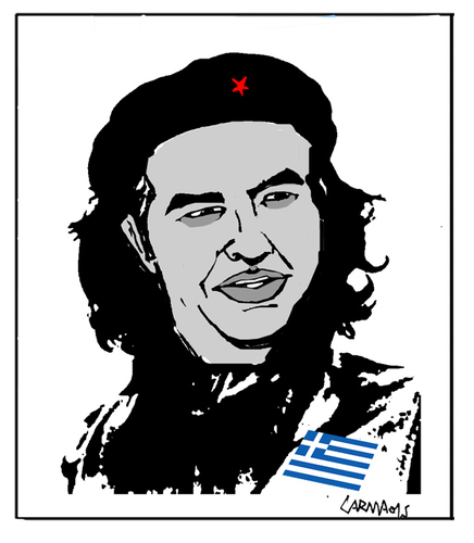 Cartoon: Alexis Tsipras (medium) by Carma tagged alexis,tipras,che,guevara,greece,politics,guerrilla,revolution