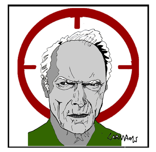 Cartoon: Clint Eastwood (medium) by Carma tagged clint,eastwood,american,sniper,movies,celebrities,usa,culture
