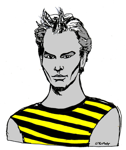 Cartoon: Sting (medium) by Carma tagged sting,music,rock,celebrities
