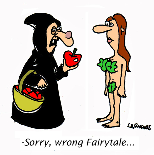 Cartoon: Wrong Fairytale (medium) by Carma tagged fairytale,eve,witch,snowhite
