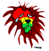 Cartoon: Africa (small) by Carma tagged africa,lion,war,conflicts