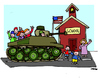 Cartoon: American School (small) by Carma tagged usa,oregon,school