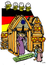 Cartoon: Hansel Merkel and Gretel (small) by Carma tagged hansel,gretel,merkel,immigration